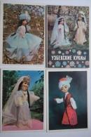 Uzbekistan  Dolls. - Doll - OLD PC Postcard Set - 15 Postcards Lot 1976 - Speelgoed & Spelen