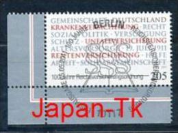 GERMANY Mi.Nr. 2868 Reichsversicherungsordnung - ESST Berlin - Eckrand Unten Links - Used - BRD