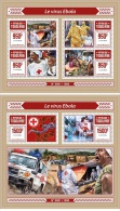 Togo 2016 Ebola Virus Red Cross Medicine MS+S/S TG15604 - Famous People