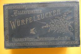 WÜRFELZUCKER - Schachtel Der Ungarischen Ostraer Zuckerfabrick Der Gebr. May - Alte Papiere