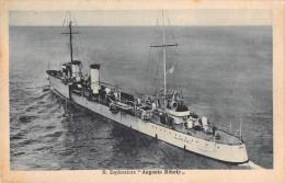 "04744 ""REGIA NAVE ESPLORATORE AUGUSTO RIBOTY"" BATTLE SHIP. CART. POST. ORIG. NON SPEDITA. - Guerra"