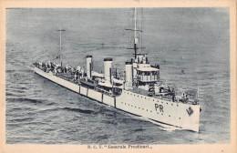"04751 ""REGIA NAVE C.T. GENERALE PRESTINARI"" BATTLE SHIP. CART. POST. ORIG. NON SPEDITA. - Guerra"