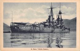 "04752 ""REGIA NAVE GIULIO CESARE"" BATTLE SHIP. CART. POST. ORIG. NON SPEDITA. - Guerra"