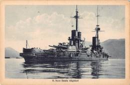 "04754 ""REGIA NAVE DANTE ALIGHIERI"" BATTLE SHIP. CART. POST. ORIG. NON SPEDITA. - Guerra"