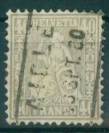 Schweiz 1878 / MiNr.  34  O / Used   (s163) - 1862-1881 Helvetia Assise (dentelés)