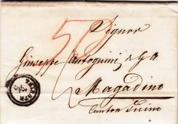 Prefilatelica, Trieste Per Magadino, Canton Ticino. Svizzera. 1852 Con Contenuto - Lombardo-Vénétie