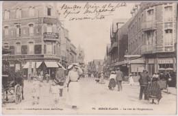 BERCK : RUE DE L'IMPERATRICE - BOULANGERIE - PHARMACIE - ECRITE 1903 - 2 SCANS - - Berck