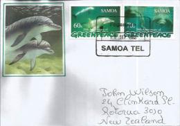 Greenpeace,  îles Samoa,  Sur Lettre Adressée En Nouvelle Zélande - Samoa