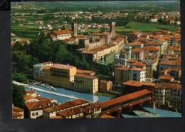 P4696 BASSANO DEL GRAPPA  ( Prov. Di ViCENZA ) Ponte Vecchi Degli Alpini E Castello Degli Ezzelini - Aerea, Aerial - Italia