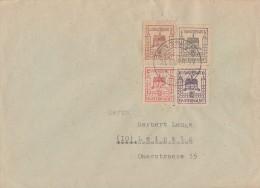 Lokalausgabe Finsterwalde Brief Mif Minr.1,2,6,7 Finsterwalde 29.3.46 Gel. Nach Leipzig - Gemeinschaftsausgaben