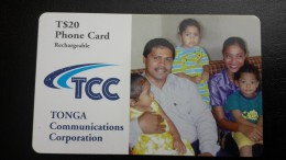 Tonga-family And Chirdren-(T$20)-used Card+1card Prepiad Free