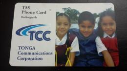 Tonga-chirdren-(T$5)-used Card+1card Prepiad Free - Tonga