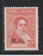 Argentina 1936 Scott #OD93 (MNG) Bernardino Rivadavia - Service
