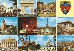 .CPM. MULTIVUES DE PARIS NON ECRITE .. - France