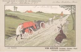 Cpa 1912-médecine Santé-La Panne-vin Aroud-labo Férré-Blottière - Publicidad