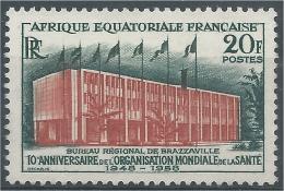 French Equatorial Africa (AEF), World Health Organization (WHO), 1958, MLH VF - Ungebraucht