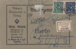 DR Karte Mif Minr.226,228 Schwerin 9.1.23 gel. in Schweiz Porto Annahme verweigert