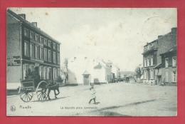 Floreffe - La Nouvelle Place Communale - Attelage - 1907 ( Voir Verso ) - Floreffe