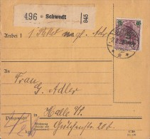 DR Paketkarte Mif Minr.156,10x 163 Schwedt 2.3.22 - Covers & Documents