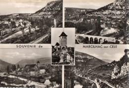 MARCILLAC-sur-CELE  --cpsm Multivues - France