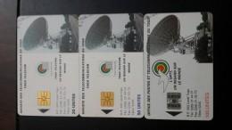 Togo-societe Des Telecommunications Du Togo-(3chip Cards)-20,50,100-used Card+2card Prepiad Free - Togo