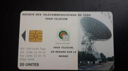 Togo-societe Des Telecommunications Du Togo-(1chip Card)-20units-used Card+1card Prepiad Free - Togo