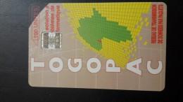 Togo-reseau De Transmission De Donnees Par Paquets-100units-used Card+1card Prepiad Free - Togo