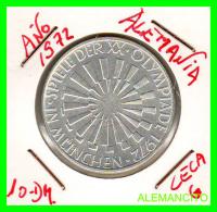 ALEMANIA   MONEDA  PLATA S/C 10 DM  OLIMPIADE  1972-  MÜNCHEN - [10] Conmemorativas