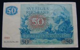 SWEDEN 50 KRONOR 1990, VF++. - Suède