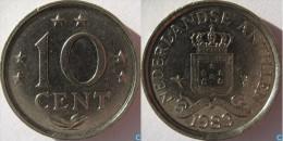 ANTILLAS HOLANDESAS  10 CENTIMOS  1.983  KM#10 NIQUEL  SC/UNC  CU NI  DL-11.584 - Antillas Nerlandesas