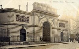 PARIS 5è Ecole Polytechnique Carte Précurseur Colorisée Animée - Arrondissement: 05