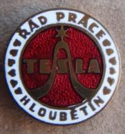 Nikola TESLA Company Czechoslovakia Electronic Industry Hloubetin Pin Badge - Trademarks