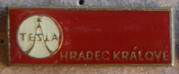 Nikola TESLA Company Czechoslovakia Electronic Industry Hradec Kralove Pin Badge - Trademarks