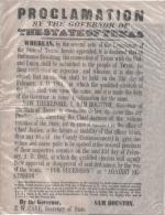 OLD West  - Replique Exacte En Papier Parchemin - Proclamation  De La  Sécession Des Etats Unis Du Texas Par SAM HOUSTON - Documents Historiques