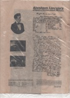 OLD West  - Replique Exacte En Papier Parchemin - Permis & License  De Débit De Boisson Liqueur D´Abraham Lincoln - Historical Documents