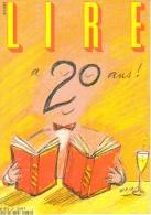 """Carte Postale édition """"Dix Et Demi Quinze"""" - Lire A 20 Ans ! (magazine Mensuel) Illustration : Maja - Publicité"""