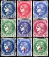 372 à 376 + 486 à 488  CERES - 1945-47 Cérès Van Mazelin