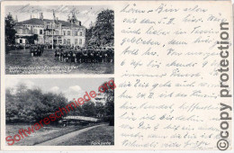 KLEIN WELZIN nahe Schwerin Schloss bei Einweihung der HJ Schule 17.2.1934 gelaufen