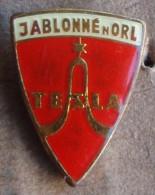 Nikola TESLA Company Czechoslovakia Electronic Industry Jablonne N.O. Pin Badge - Marques