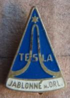 Nikola TESLA Company Czechoslovakia Electronic Industry Jablonne N.O. Pin Badge - Markennamen