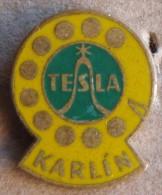 Nikola TESLA Company Czechoslovakia Electronic Industry Karlin Pin Badge - Trademarks