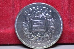 Gibraltar 25 Pence 1977 Km#10 Silver Jubilee. (inv686) - Gibraltar
