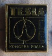 Nikola TESLA Company Czechoslovakia Electronic Industry Koncern Prague Pin Badge - Marques