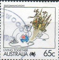 Australia 1988 Living Together 65c Telecommunications Used - 1980-89 Elizabeth II