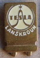 Nikola TESLA Company Czechoslovakia Electronic Industry Lanskroun Pin Badge - Trademarks