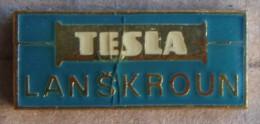 Nikola TESLA Company Czechoslovakia Electronic Industry Lanskroun Pin Badge - Marcas Registradas