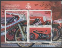 SPAIN, 2015, MNH, MOTORBIKES, MOTO CHAMPIONS, SHEETLET - Motos