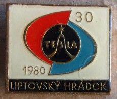 Nikola TESLA Company Czechoslovakia Electronic Industry Liptovsky Hradok Pin Badge - Trademarks