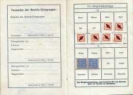 (4 Scan) Kriegsopferverband Wien, NÖ Und Burgenland - Mitgliedsbuch Ausgestellt 1945 Mit Beitragsmarken, Kleines Buch .. - Historische Dokumente