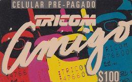 DOMINICANA  - Amigo, Tricom Prepaid Card $200, Used